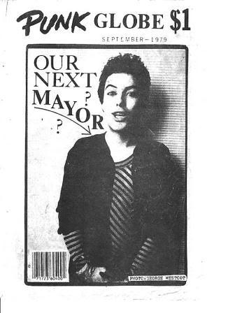 La revista  Punk Globe  dedica su portada a Biafra: «¿Nuestro próximo alcalde?», se pregunta