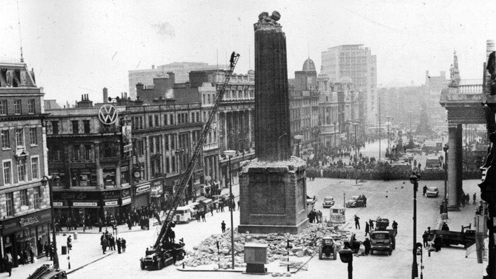 Panorámica del monumento tras el atentado