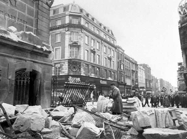 Escombros tras el derrumbe