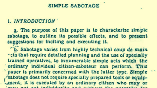 Introducción del Simple Sabotage Field Manual