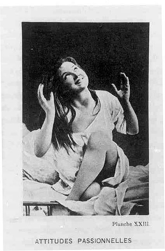 Una de las fotografías de Agustine en  Photographique de La Salpêtrière