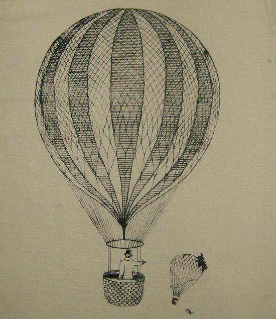 Ilustración del momento en que el globo de Le Pique, alcanzado por un disparo, se precipita a tierra