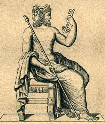 El dios Jano en una de sus típicas representaciones