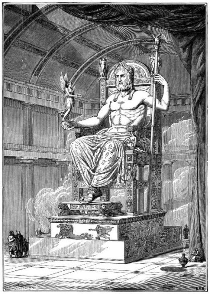 Zeus en su trono