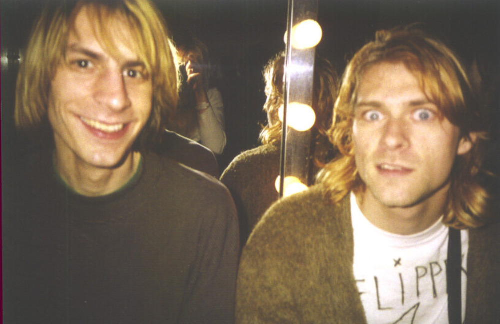 Mark Arm, de Mudhoney, junto a Kurt Cobain