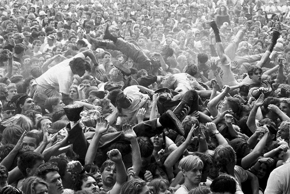 El público durante el Endfest de 1992