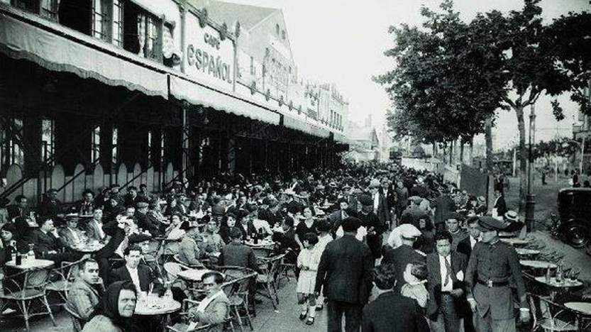 El Café Español en el Paralelo en una imagen de la época