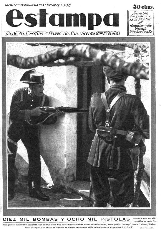Portada de  Estampa  (21 de enero de 1933)