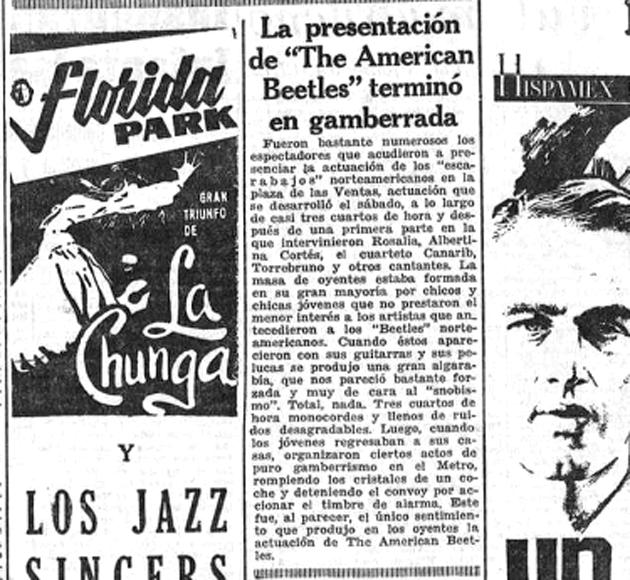 La Hoja del Lunes, correspondiente al lunes 21 de septiembre de 1964
