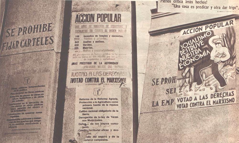 La ultraderecha y sus carteles electorales en las elecciones de 1933