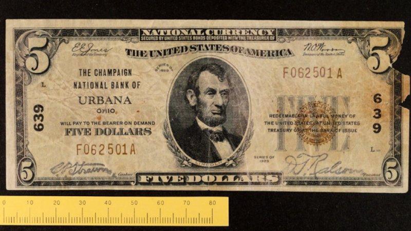 Uno de los billetes falsos de Victor Lustig