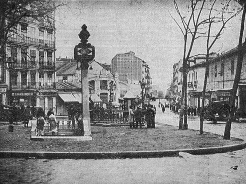 Aspecto de la plaza de Lavapiés, donde vivía el «Hospicia»,a comienzos de siglo