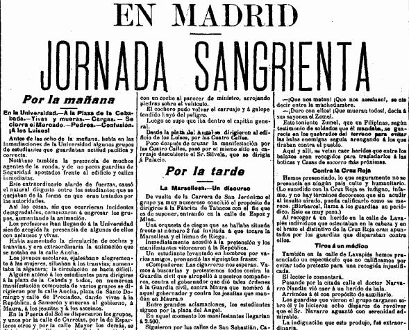 El País, 5 de abril de 1903