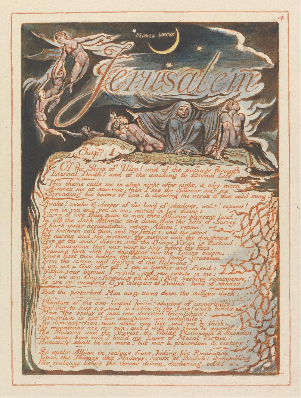 Lámina original de Jerusalem de William Blake