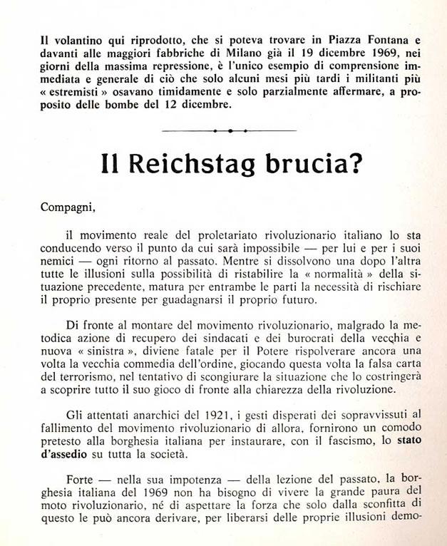 Panfleto Il reichstag brucia?, obra de Cesoni y Rothe
