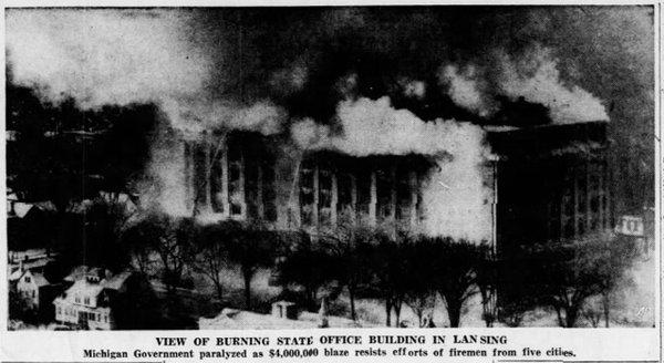 El edificio consumido por las llamas