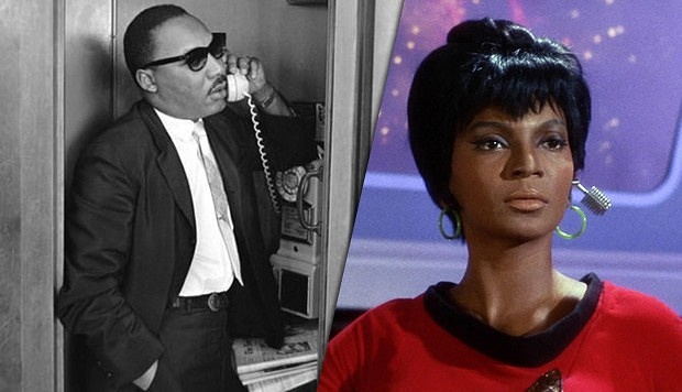 Martin Luther King y Uhura