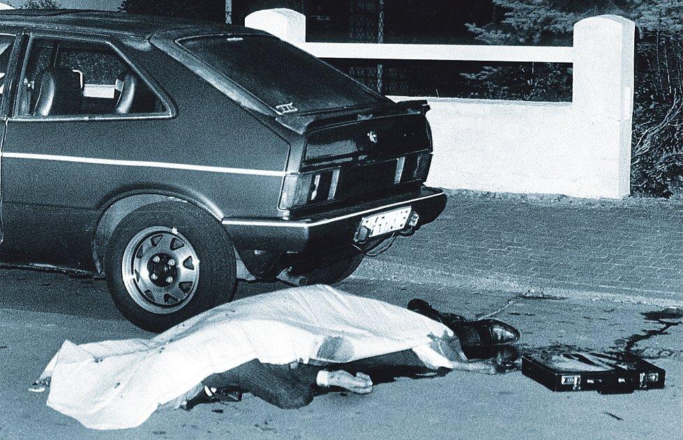 Gerold von Braunmühl tras el atentado que acabó con su vida