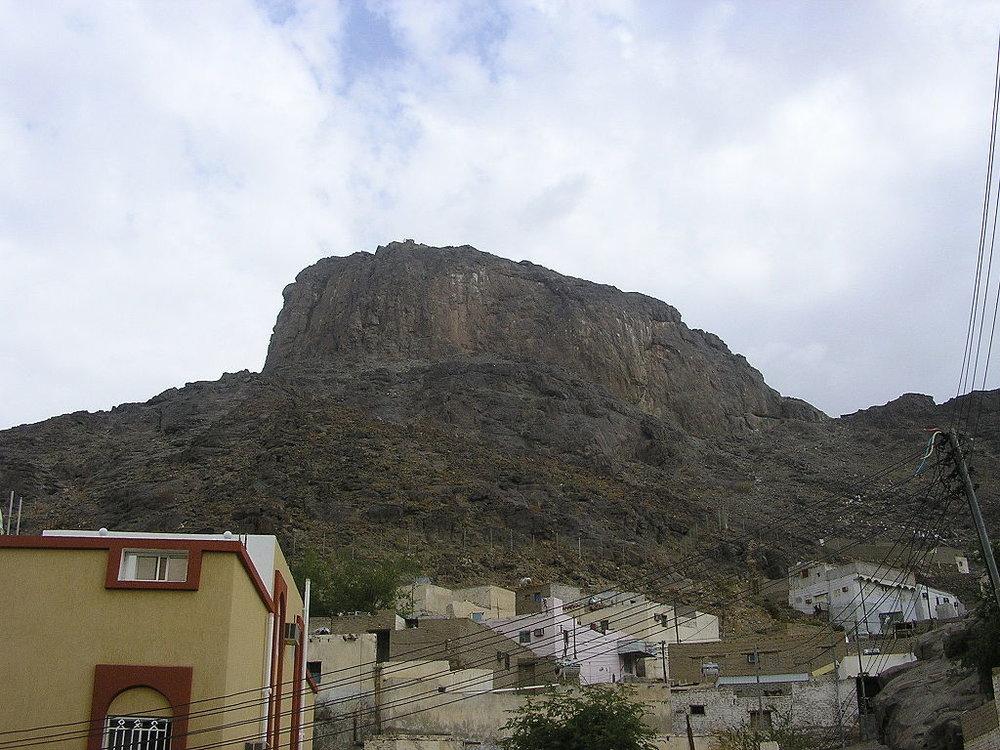 Vistas de Jabal al-Nour y su montaña sagrada