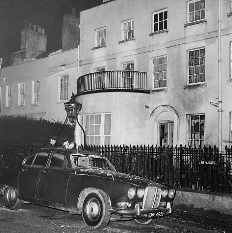 La casa de Ministro de Trabajo Robert Carr tras el atentado de la Angry Brigade