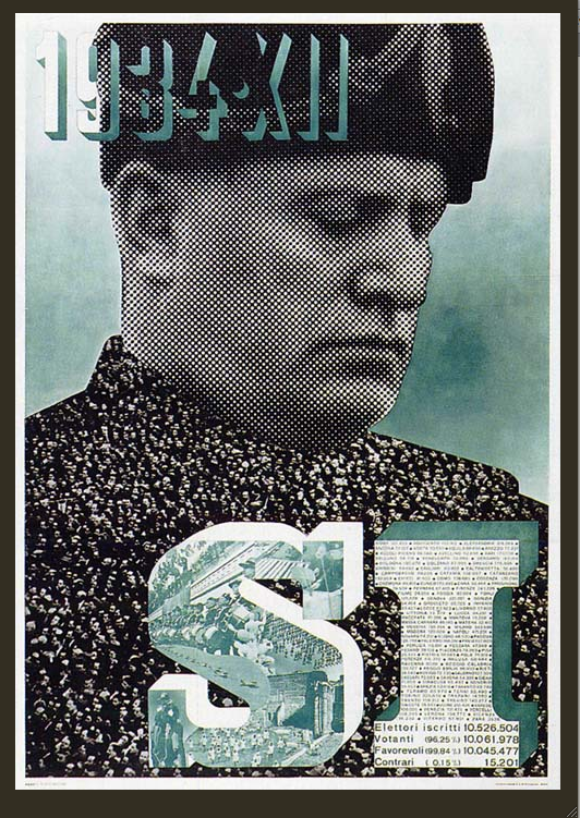 «Sí, año XII de la Era Fascista» de Xanti Schawinsky (1934)