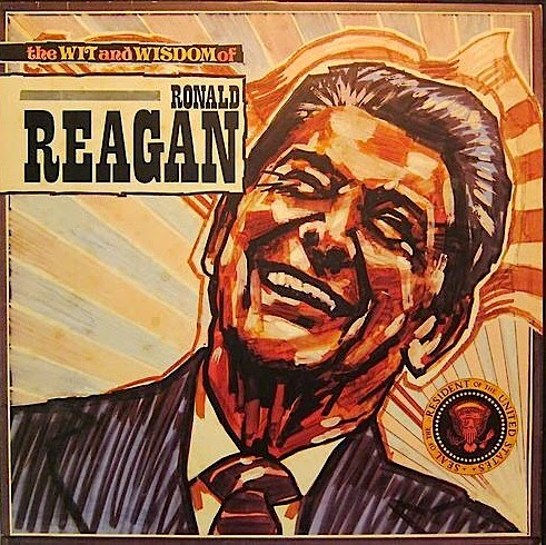 Portada de  The Wit and Wisdom of Ronald Reagan