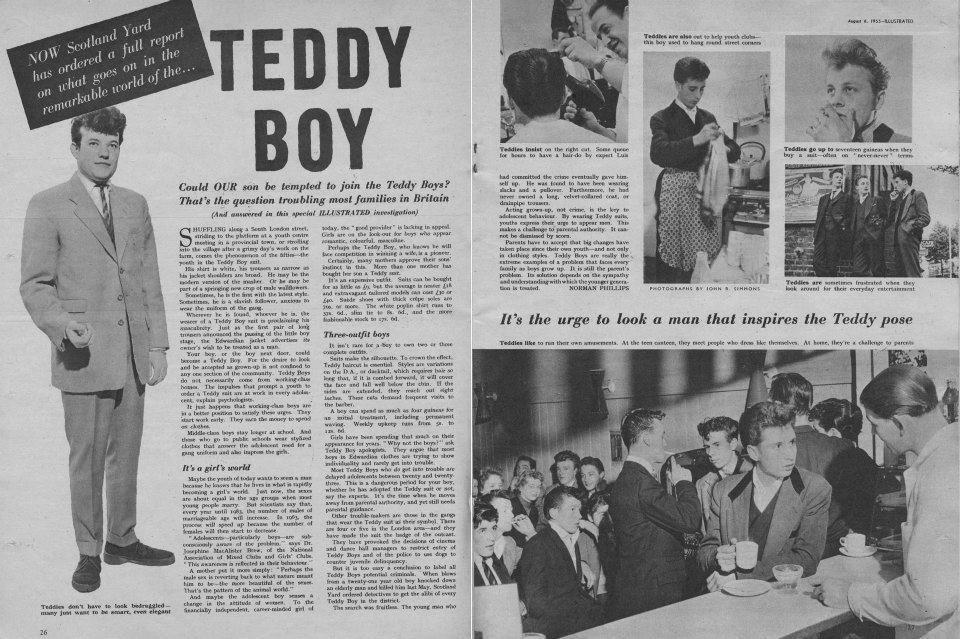 Reportaje sobre el estilo eduardiano del teddy boy