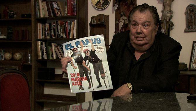Alberto Royuela en una imagen del documental sobre el atentado contra  El Papus