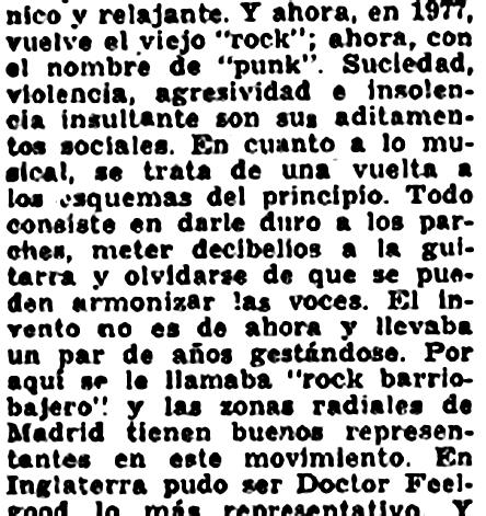 Jose R. Pardo, La Hoja del Lunes (julio de 1977)