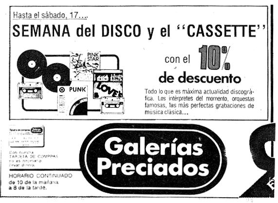 El punk llega a Galerías Preciados (diciembre de 1977)