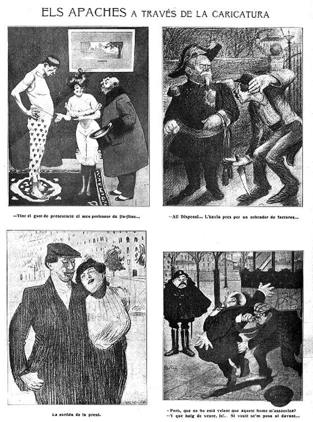 Los apaches y sus fechorías según  La Esquella de la Torraxa  (marzo de 1911)