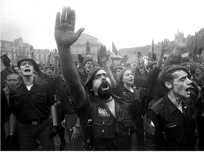 Militantes ultraderechistas a finales de los setenta