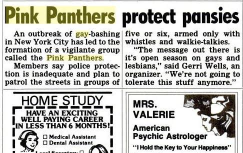 Anuncio de los Pink Panthers