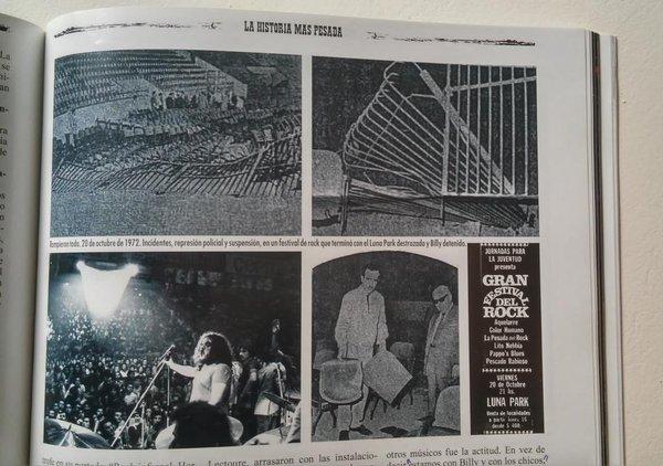 Fotografías interiores del periódico Así sobre los incidentes en el Luna Park