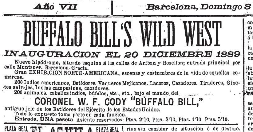 Anuncio de la inauguración del circo ( La Dinastía , 8 de diciembre de 1889)