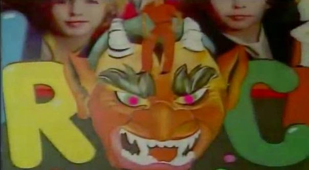 El rostro del diablo antes de la actuación de Parchís