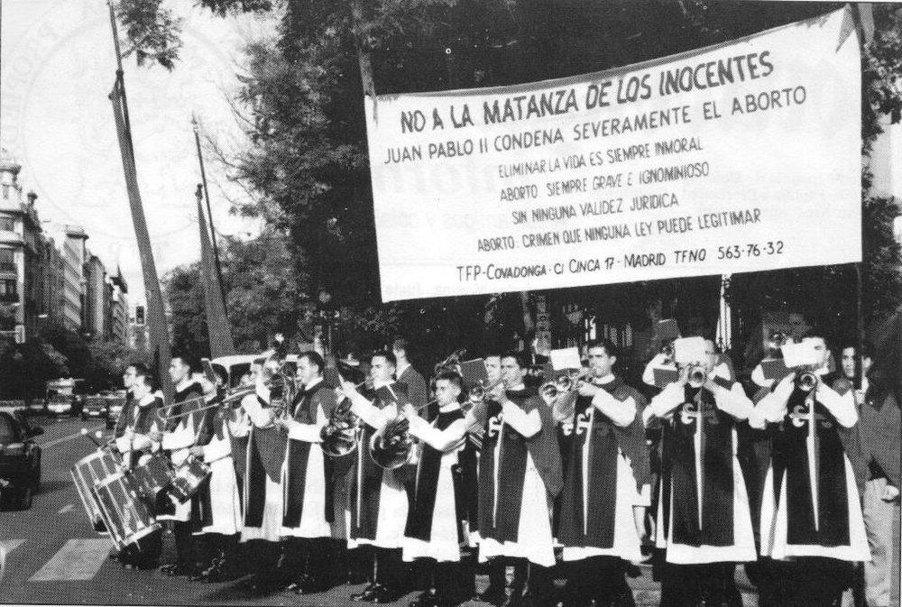 Acto contra el aborto en el centro de Madrid