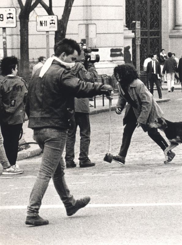Incidentes en la calle de Alcalá.Fotografía de José Hinojosa