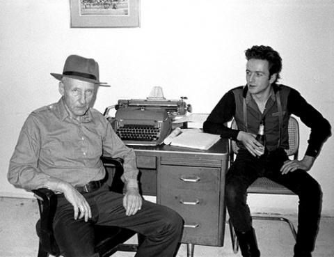 William S. Burroughs junto a Joe Strummer