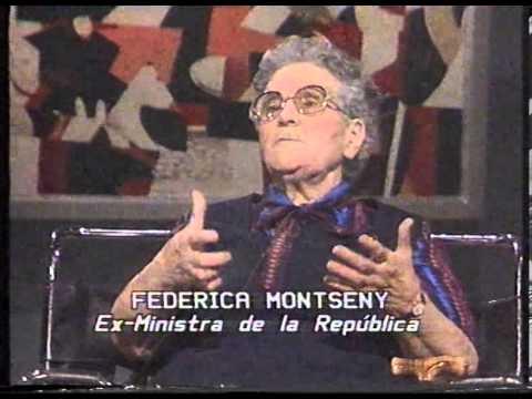 Un momento de la intervención de Federica Montseny