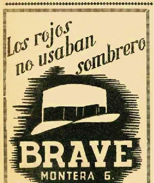 Anuncio de la sombrerería Brave, en la calle Montera número 6 de Madrid