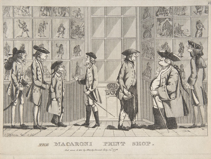 The Macaroni Print Shop  (1772), de Edward Topham