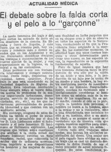 Artículo publicado en El Imparcial (25 de marzo de 1928)