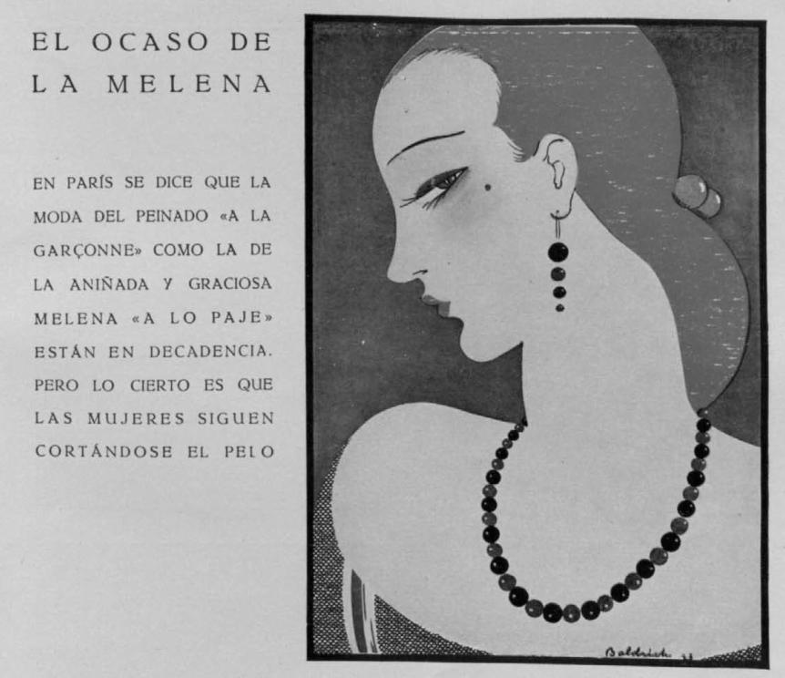 El ocaso de la melena (Elegancias, mayo de 1925)