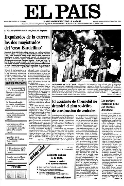 «Incidentes en la Casa de Campo». La Polla Records en la portada de  El País