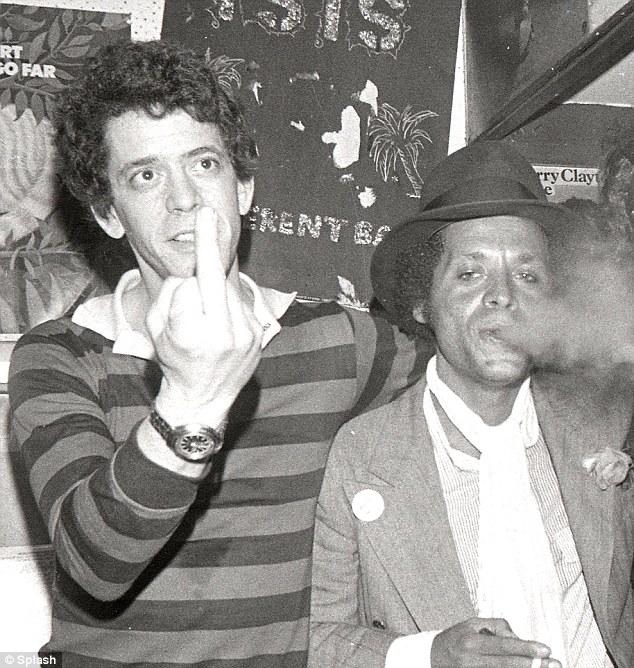 Lou Reed junto a Garland Jeffreys