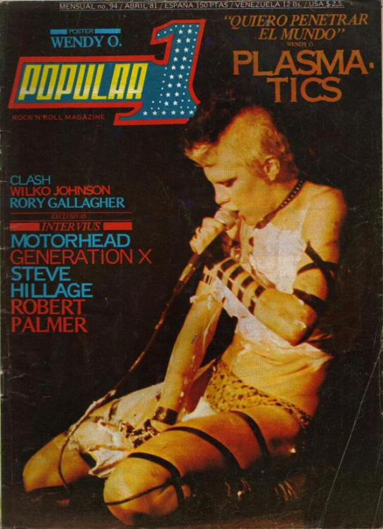 Portada de Popular 1 (abril de 1981) que incluye la entrevista a Motörhead