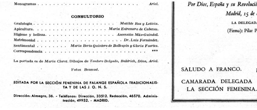 Gloria Fuertes como encargada del consultorio «Sentimental»