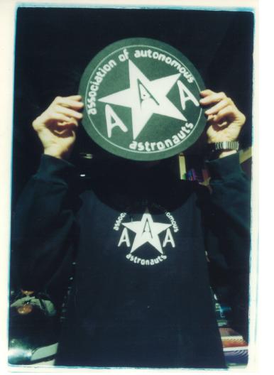 Militante de la AAA en la Conferencia Intergaláctica de 1998. Fotografía de Ricardo Balli