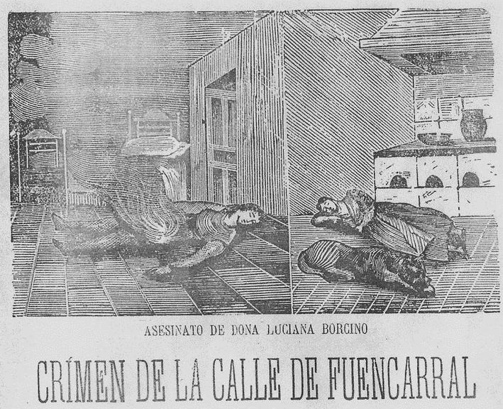 Ilustración del crimen en la prensa de la época